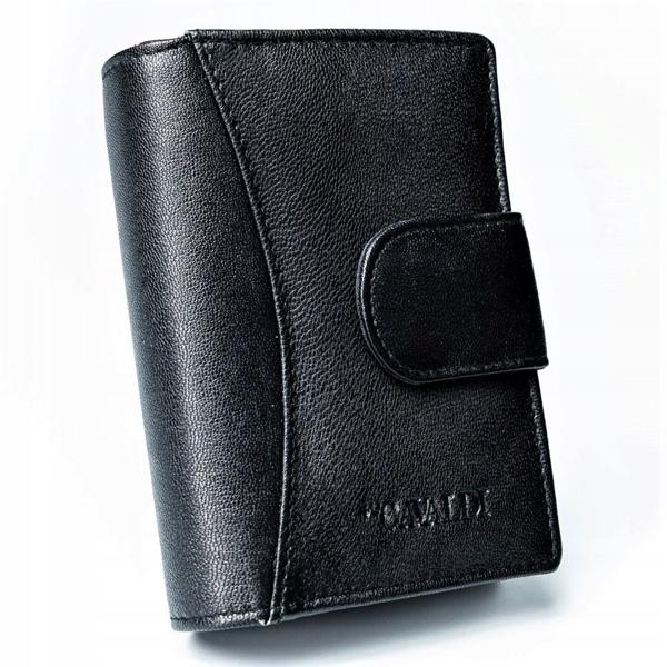 Жіночий шкіряний гаманець чорний 2774