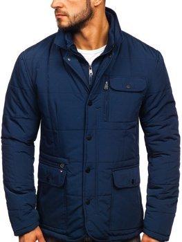 Куртка чоловіча зимова елегантна темно-синя Bolf 1976