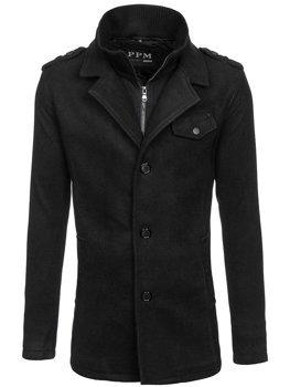 Пальто чоловіче чорне Bolf 8853F