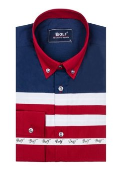 Сорочка чоловіча BOLF 6885 бордова