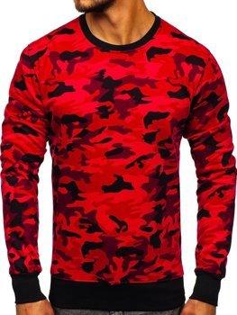 Чоловіча толстовка без капюшона камуфляж-червона Bolf DD129-2