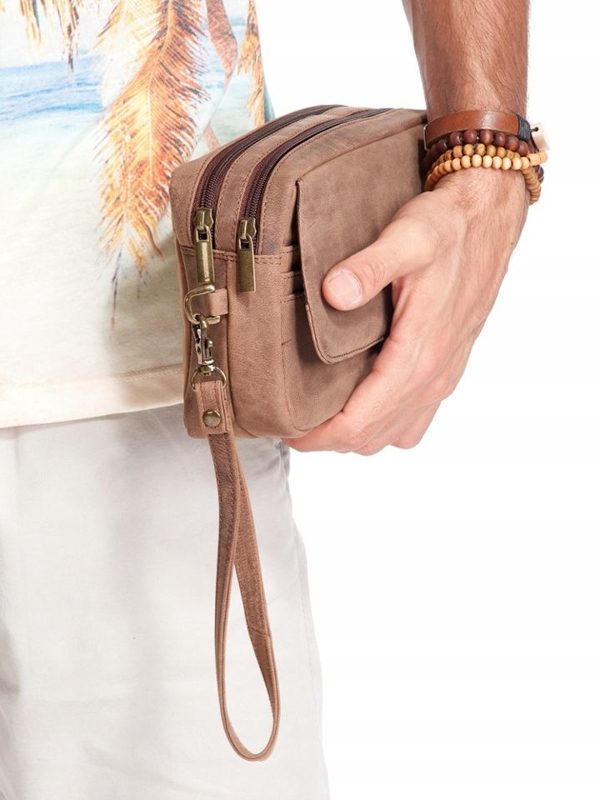 Чоловіча шкіряна сумка коричнева 2442