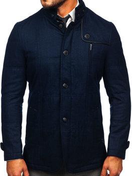 Чоловіче пальто темно-сині Bolf EX66A