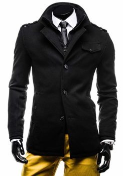 Чоловіче пальто чорне Bolf 8853E