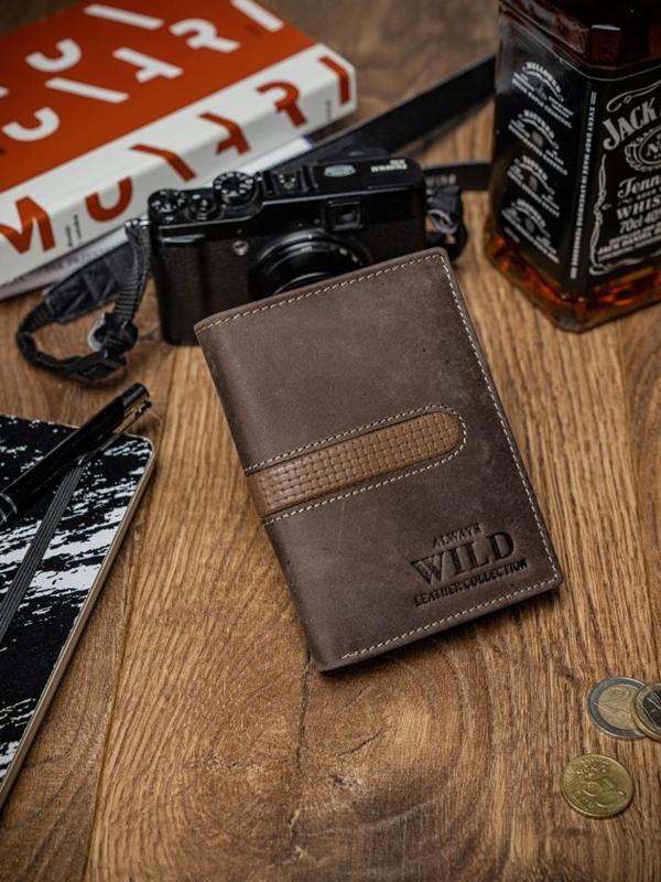 Чоловічий гаманець шкіряний коричневий 2035