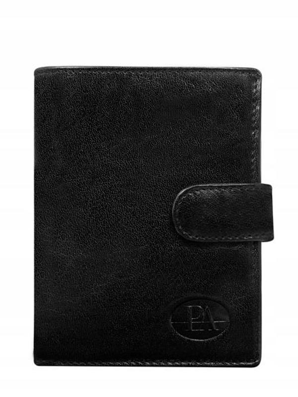 Чоловічий гаманець шкіряний чорний 351