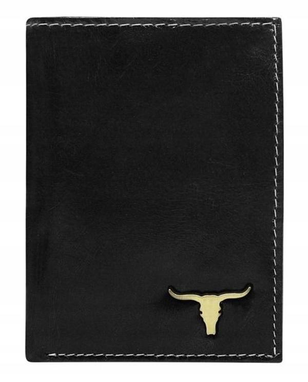 Чоловічий гаманець шкіряний чорний 63