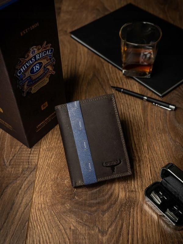 Чоловічий шкіряний гаманець коричневий 2228