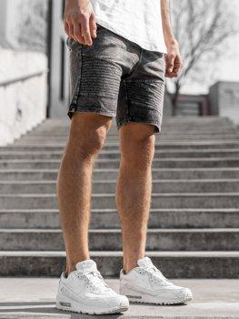 Чоловічі джинсові шорти графітові Bolf KK102