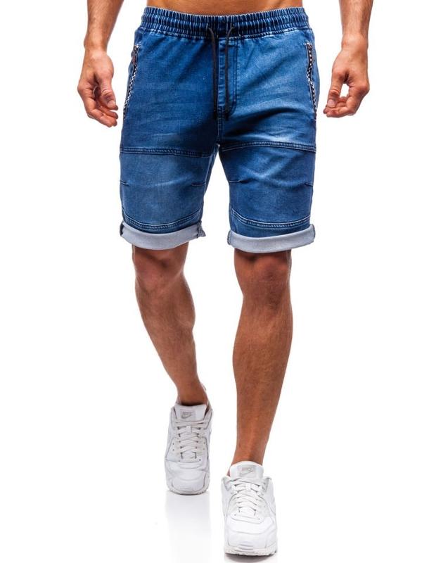 Чоловічі джинсові шорти темно-сині Bolf HY188