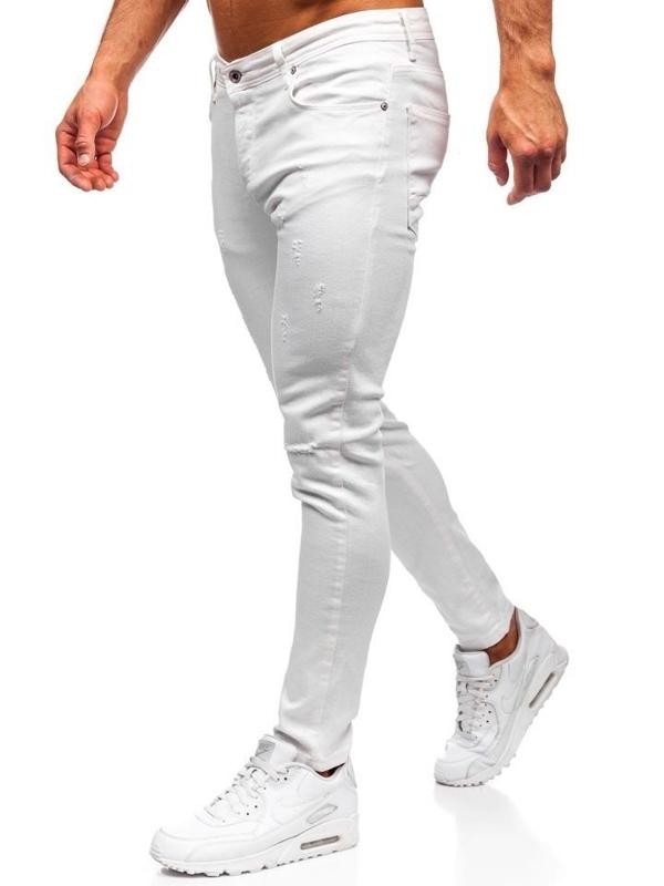 Чоловічі джинсові штани білі Bolf 55118