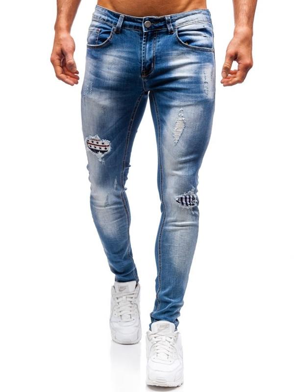 Чоловічі джинсові штани сині Bolf 3950