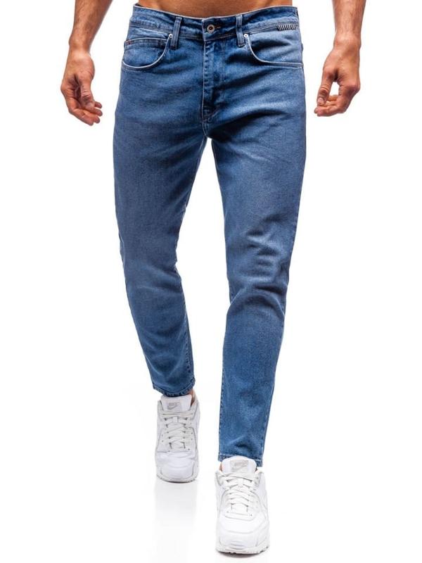 Чоловічі джинсові штани сині Bolf 7157