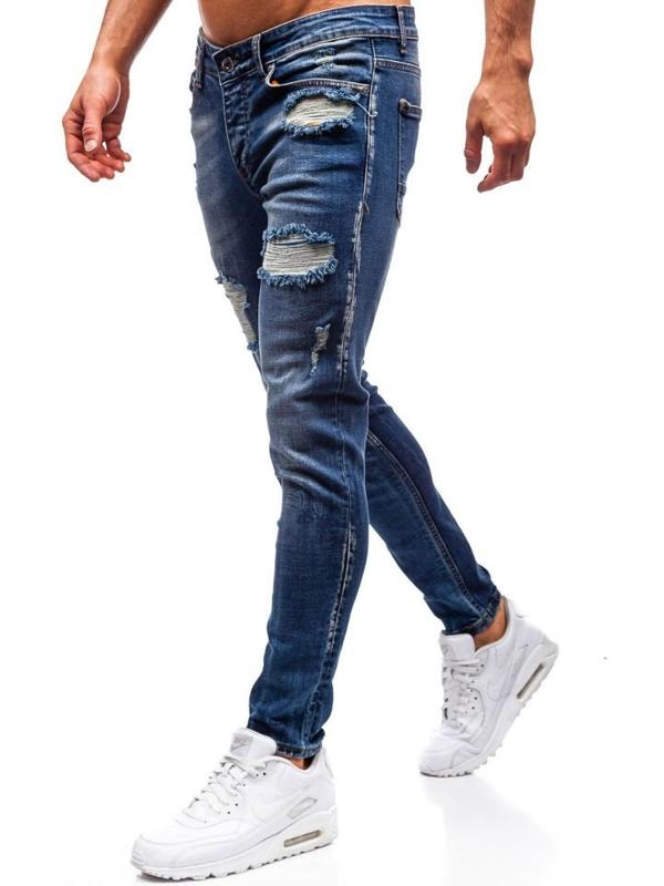 Чоловічі джинсові штани темно-сині Bolf 1020