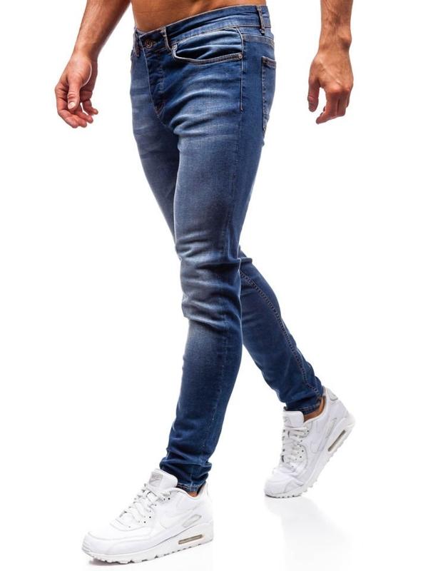 Чоловічі джинсові штани темно-сині Bolf 1032