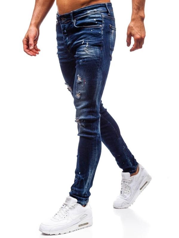 Чоловічі джинсові штани темно-сині Bolf 1037