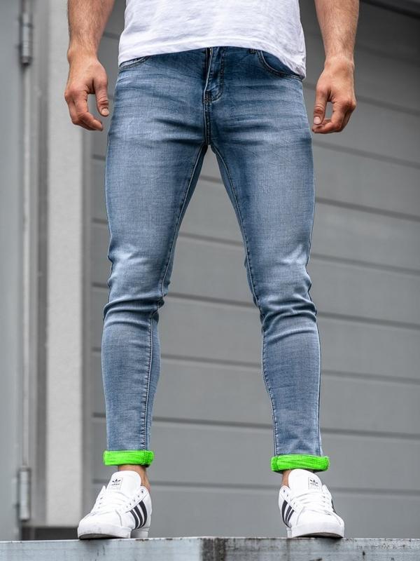 Чоловічі джинсові штани темно-сині Bolf KX162