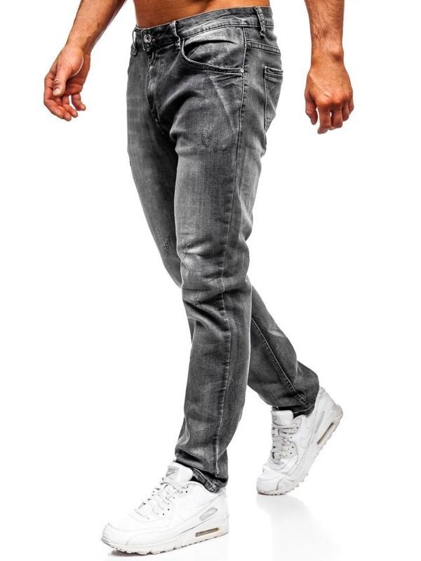 Чоловічі джинсові штани straight leg чорні Bolf KA1575