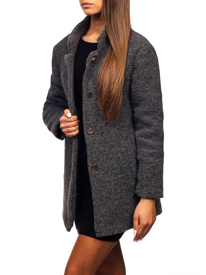 Жіноча пальто антрацитове Bolf 1950 · Жіноча пальто антрацитове Bolf 1950  ... 1ea4d260e6346
