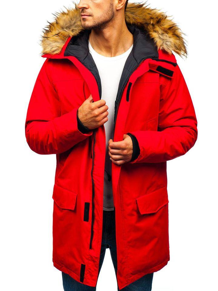 Чоловіча зимова куртка парка червона Bolf 201810 ЧЕРВОНИЙ 9e1aa31bf40fb