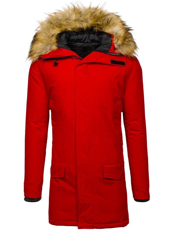 Чоловіча зимова куртка парка червона Bolf 201810 ЧЕРВОНИЙ 7f33e2af618ea