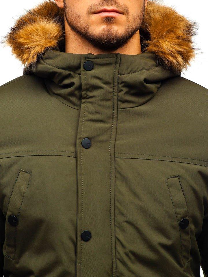 Чоловіча зимова куртка парку зелена Bolf 1889 ЗЕЛЕНИЙ acd6df4f69045