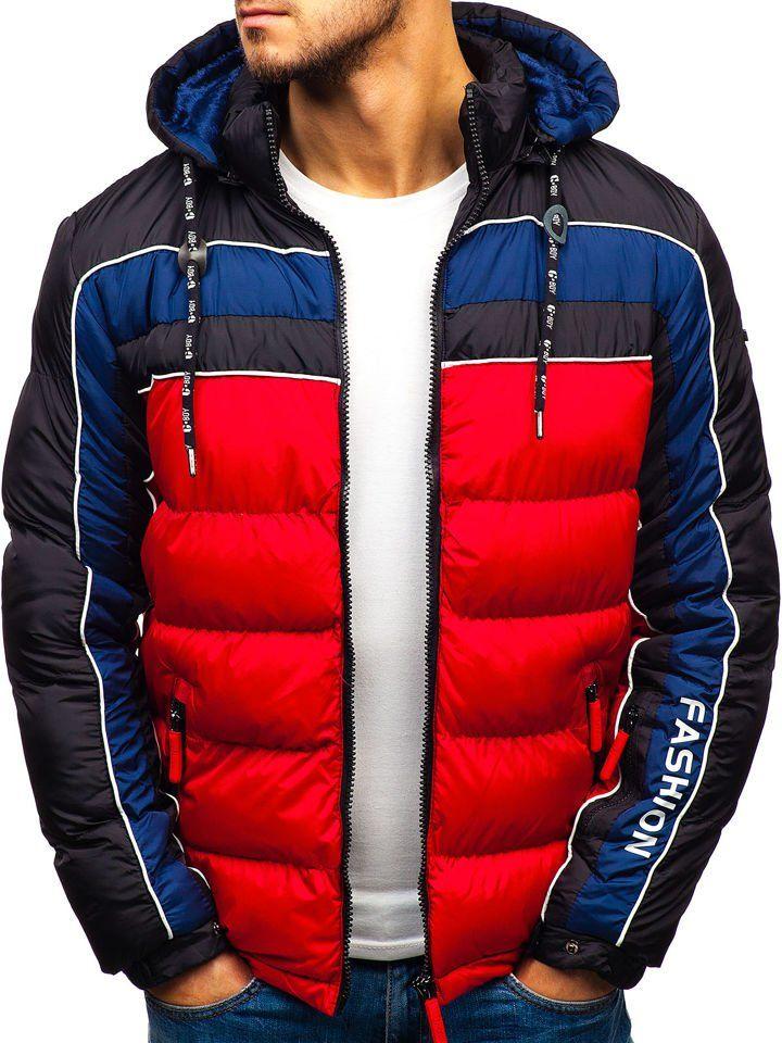 Чоловіча зимова куртка червона Bolf A429 ЧЕРВОНИЙ 83f431762cf2e