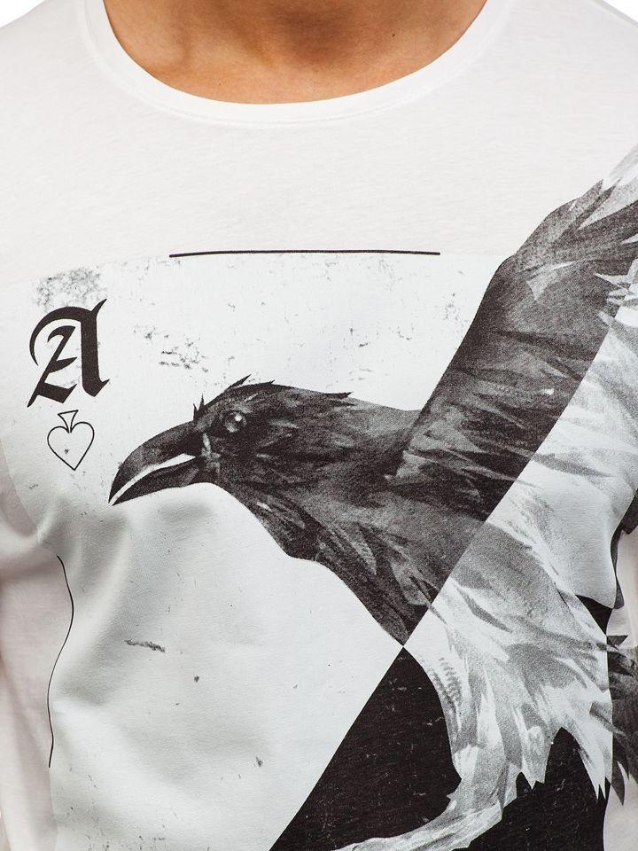 ... Чоловіча футболка з принтом біла Bolf 181210 ... 2bd90d1310182