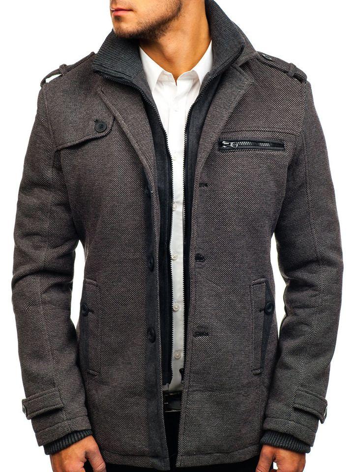 Чоловіче зимове пальто сіре Bolf 1809 1fdbd4cfb62c5