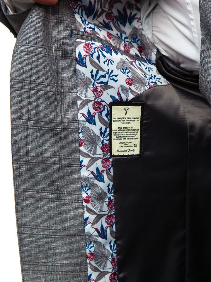 ... Чоловічий костюм з жилеткою сірий Bolf 18300 ... 327d8b51e9a10