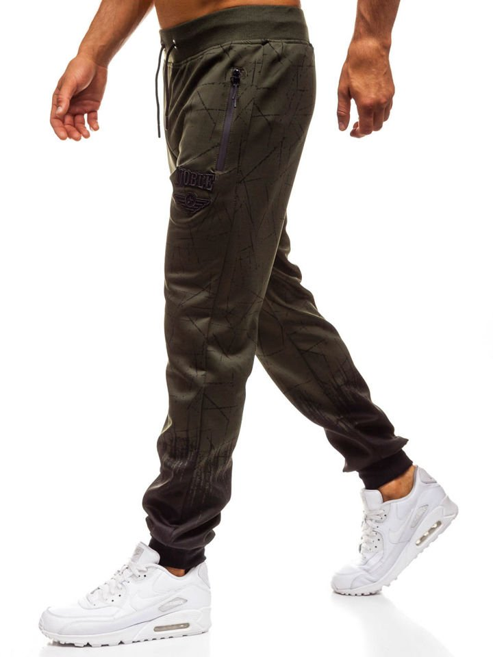 Чоловічі спортивні штани джогери зелені Bolf HM008 ЗЕЛЕНИЙ f97c8e5bdffce
