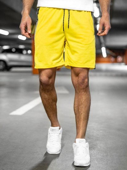 Жовті чоловічі спортивні шорти Bolf KS2577