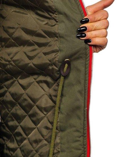 Жіноча зимова куртка зелена Bolf M888