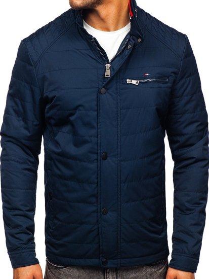 Куртка чоловіча демісезонна темно-синя Bolf 2062