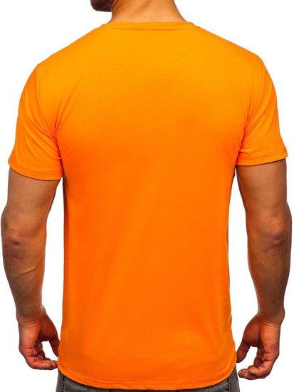 Помаранчева чоловіча футболка з принтом Bolf Y70013