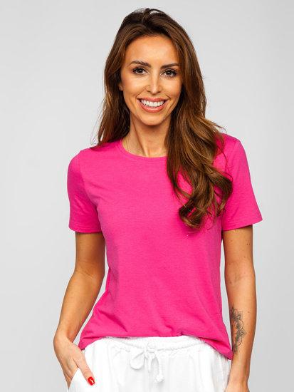 Рожева жіноча футболка без принта Bolf SD211