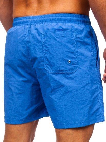 Сині чоловічі пляжні шорти Bolf YW07003