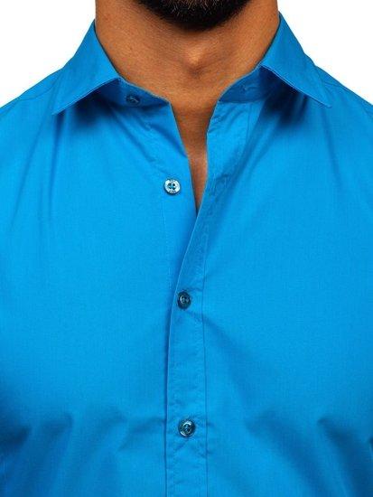 Сорочка чоловіча BOLF 1703 бірюзова