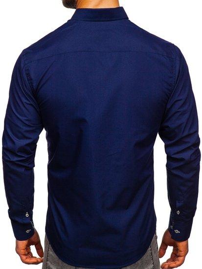 Сорочка чоловіча BOLF 5796 темно-синя