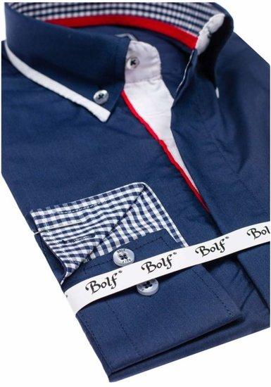 Сорочка чоловіча BOLF 6857 темно-синя
