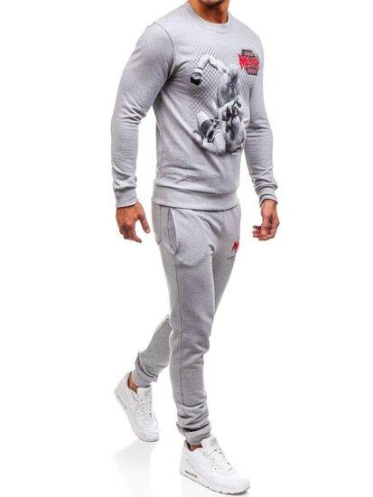 Спортивний костюм чоловічий OXCID X219 сірий