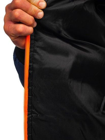 Темно-синя спортивна чоловіча демісезонна куртка Bolf m10001