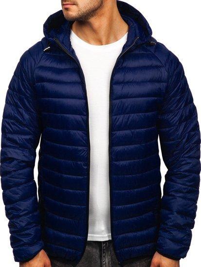 Темно-синя стьобана чоловіча куртка Bolf 13021