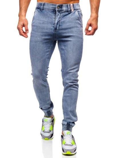 Темно-сині чоловічі джинси джоггери Bolf KA1637
