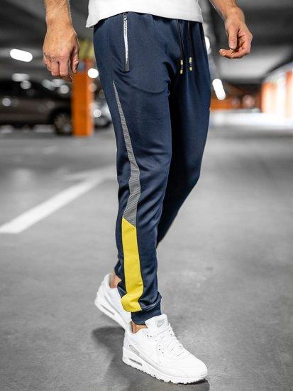 Темно-сині чоловічі спортивні штани Bolf K10121