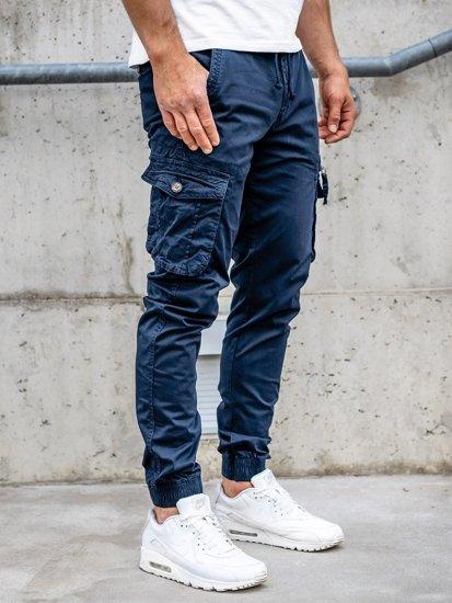 Темно-сині чоловічі штани джоггери карго Bolf CT6702S0