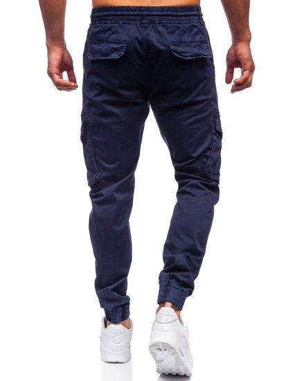 Темно-сині чоловічі штани джоггери карго Bolf CT6707S0
