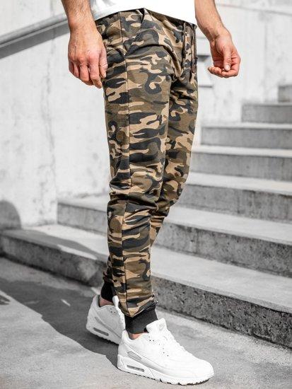 Хакі чоловічі спортивні штани камуфляж Bolf 5958
