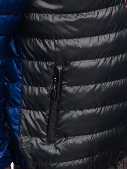 Чоловіча демісезонна спортивна куртка темно-сіра Bolf 1908