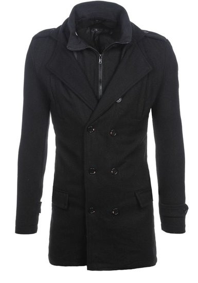 Чоловіче пальто зимове чорне Bolf NZ02